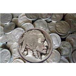 Lot of (100) NO DATE Buffalo Nickels