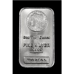 (1) 1oz Pure .999 Silver Morgan Design Bar