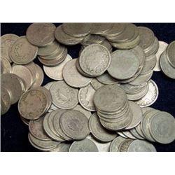 Lot of (100) V Nickels - Various RANDOM Dates