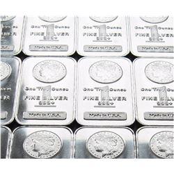 Lot of (10) Morgan Design Silver Bars- 1oz ea.