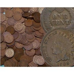 Lot of (100) Indian Head Cents - Goods