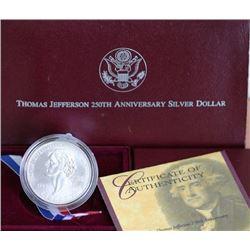 Thomas Jefferson 250th Year Anniversary Commem.