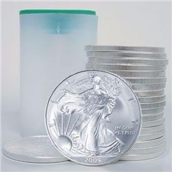 (20) US Silver Eagles in Mint Tube