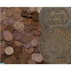 Lot of (100) Indian head Cents ag-g