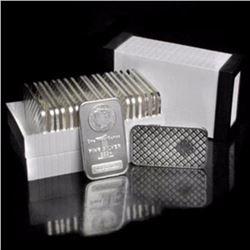 (20) Morgan Design Silver Bars 1 oz ea.