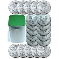 Lot of (20) US Silver Eagles - Random Dates