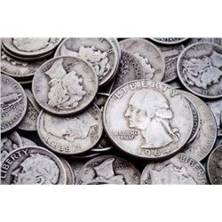 Lot of $20 Face Value 90% Silver Coinage