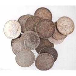 (20) Better Grade Morgan Silver Dollars XF +