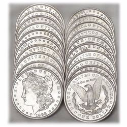 (20) 1880-1890's BU Morgan Dollars