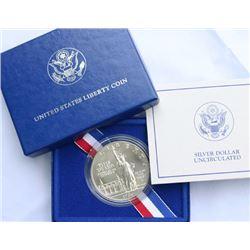 1986 Statue of Liberty Silver $ 1 Commemorative