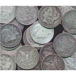 20 Assorted Date Morgan Silver Dollars