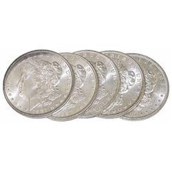 (5) Random Date BU Morgan Silver Dollars -no 21 s