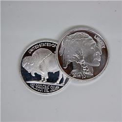 (1) 1 oz. Silver Buffalo Design Round