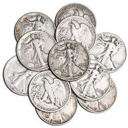 Lot of (10) Walking Liberty Half Dollars