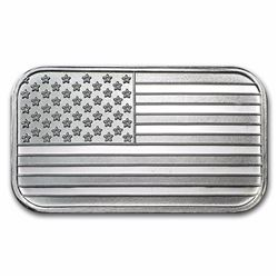 1 oz Silver American Flag Design Bar -.999 Pure