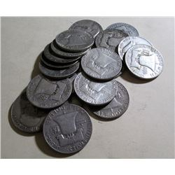$10 Face Value 90% Silver Franklin Halves