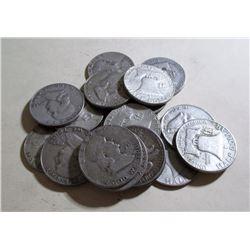 Lot of (20) Franklin Halves- 90% Silver