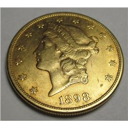 1898 S $20 Gold Liberty Double Eagle