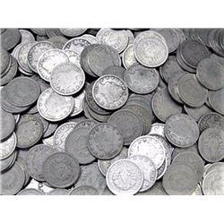 (100) V Nickels Mixed Dates and Grades