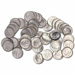(50) Roosevelt Dimes -90% Silver