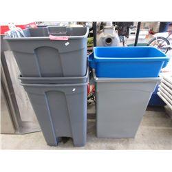 5 Garbage Cans - Unused