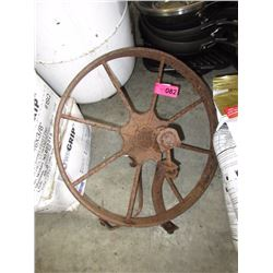 Antique Wheel Barrow Wheel