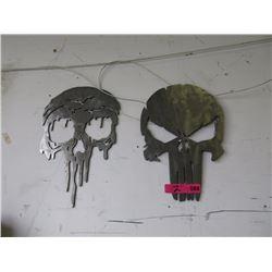 """2 Skulls Signs - 12"""""""