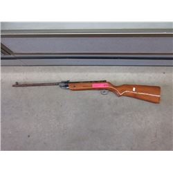 Vintage pellet rifle with wood stock