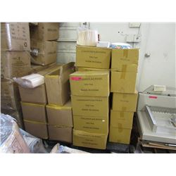 Skid of commercial food prep products