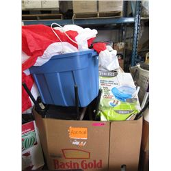 Skid of storage locker goods