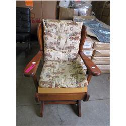 Solid wood children's rocking chair