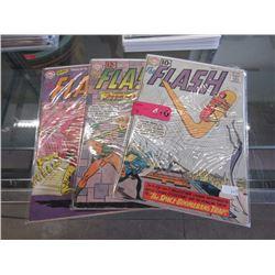 "3 Vintage ""The Flash"" Comics"