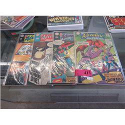 "4 Vintage ""Adventure Comics"" comic books"