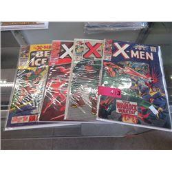 "4 Vintage ""X-Men"" comic books"