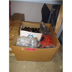 Box of cords, cables & other computer accessories