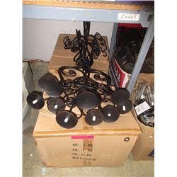 2 Cases of floor standing metal candelabras