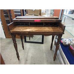 Vintage Walnut Spinet Desk ca1920