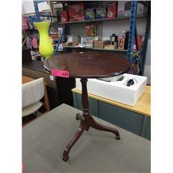 Wood wine table