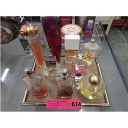 9 Assorted perfume bottles