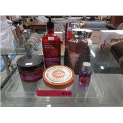 7 Body Shop products - 5 are unused