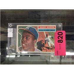 1956 Topps Hank Aaron baseball card