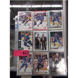 6 Pages of Joe Sakic hockey cards