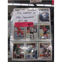 Complete 1992 Premier hockey card set