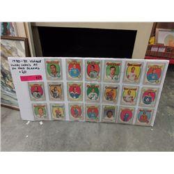20 x 1970's Hockey cards