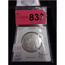 1960 Canadian Silver .50¢ Coin