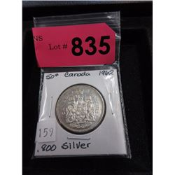 1962 Canadian Silver .50¢ Coin