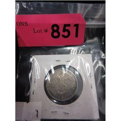 1939 German 2 Reichmarks Coin
