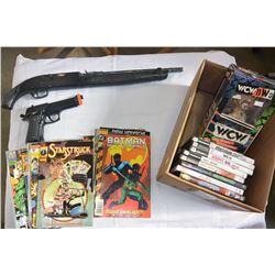 LOT OF PELLET GUNS COMICS AND COLLECTIBLES