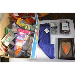 BOX OF NEW SOCKS, UNDERWEAR & NEW ITEMS