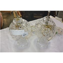 PAIR OF SMALL CRYSTAL BEDROOM LAMPS